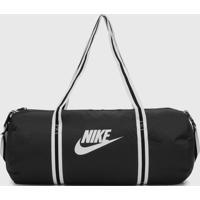 Bolsa Nike Sportswear Heritage Duff Preta - Preto - Dafiti