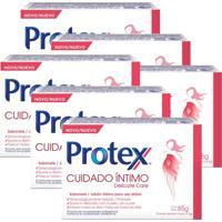Kit Sabonete Em Barra Íntimo Protex Delicate Care 85G Com 6 Unidades