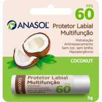 Protetor Hidratante Labial Coconut Fps60 Anasol Translúcido - Unissex-Incolor