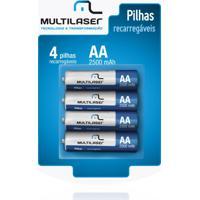Pilhas Recarregáveis Aa Multilaser 2500Mah Com 4 Unid Cb052