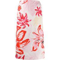 Marni High-Waisted Floral Print Skirt - Rosa