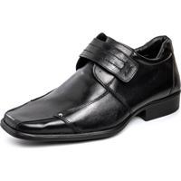 Sapato Social Pierrã´ Conforto Preto Velcro - Preto - Masculino - Couro - Dafiti