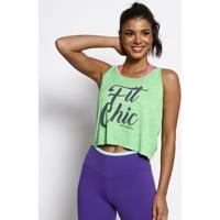 "Regata ""Fit Chic""- Verde & Preta- Physical Fitnessphysical Fitness"