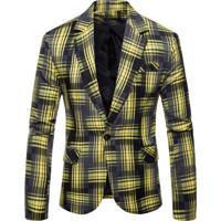 Blazer Masculino Xadrez - Amarelo