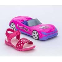 Papete Infantil Menina Pink Glitter E Carrinho Conversível