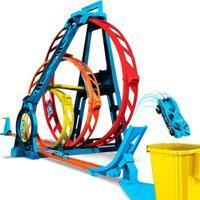 Conjunto Hot Wheels Track Builder Triple Loop Kit - Mattel