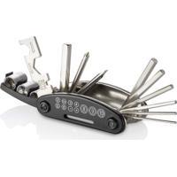 Kit Ferramentas Para Bicicleta 15 Funções Material Em Abs E Aço Carbono Preto Atrio - Bi032 - Padrão
