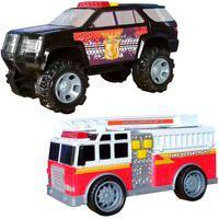 Carrinhos Bombeiro Flash E Polícia Star 1:20 Carrinhos Bombeiro Flash E Polícia Star 1:20