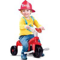 Triciclo - Motoca Bombeiro Com Haste E Som - Samba Toys