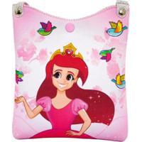 Bolsa Infantil Princesa Pink Estampa Encantada Shopper - Feminino-Rosa