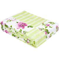 Colcha Queen Verde Estampa Floral Monica- 90 Fios - Multicolorido - Dafiti