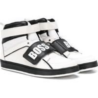 Boss Kids Tênis Cano Alto Com Velcro - Branco