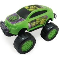 Carrinho Roda Livre - Monster Car - Avengers - Hulk - Marvel - Toyng - Masculino