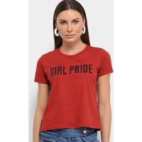 Blusa Lecimar Girl Pride Feminina - Feminino-Vermelho