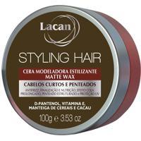Lacan Styling Hair - Cera Modeladora Matte Wax 100G - Kanui