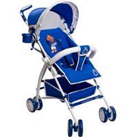 Carrinho De Bebê Guarda Chuva Times Naskinha - Masculino-Azul