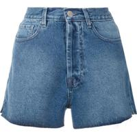 Eva Short Jeans Love - Azul