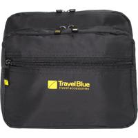 Pochete Viagem Nylon Travel Blue (Preto, Único)