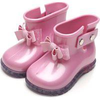 Bota Pimpolho Infantil Laço Rosa