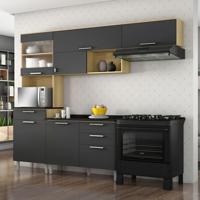 Cozinha Compacta Clean 6 Pt 4 Gv Grafite E Preta
