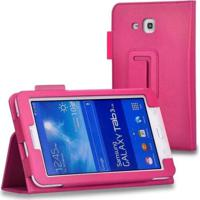 "Capa Agenda Para Tablet Samsung Galaxy Tab3 7"" Sm- T110 T111 T113 T116 Rosa Escuro"