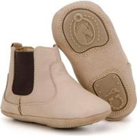 Botina Infantil Em Couro Capelli Boots Masculina - Masculino-Marfim
