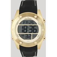 Relógio Digital Condor Masculino - Cobj3463Af3D Dourado - Único