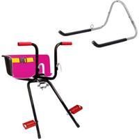 Cadeirinha Infantil Dianteira Super Luxo + Suporte Parede 1 Bike Altmayer - Unissex