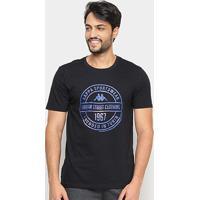 Camiseta Kappa Urban Street Masculina - Masculino-Preto