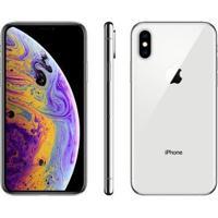 """Iphone Xs Apple 64Gb Ouro 4G Tela 5,8"""" Retina - Unissex-Prata"""