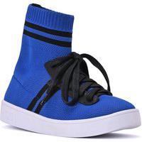 Sneaker Knit Stripes Azul Royal