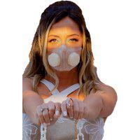 Máscara Antiviral 4D - Modelo Média M (Personalizável) Translúcida
