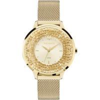 Relógio Feminino Technos 2035Mlg/4X Pulseira Aço Dourada - Feminino-Dourado