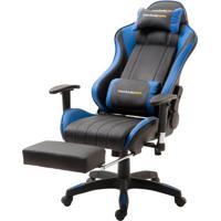 Cadeira Office Xsx Em Courino Preto E Azul - 53538 - Sun House