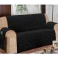 Protetor Para Sofá De 04 Lugares Com Assento De 3,00M Matelado Microfibra Lú Preto