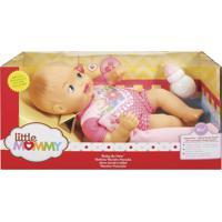 Boneca Little Mommy Recém Nascido Macacáo Flores - Mattel - Tricae