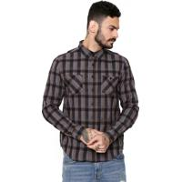 Camisa Cavalera Xadrez Cinza/Bege