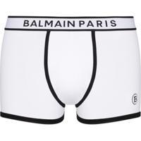 Balmain Logo Waistband Boxers - Branco