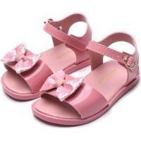 Sandália Pimpolho Infantil Laço Rosa