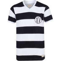 Camiseta Do Xv De Piracicaba 1948 Retrômania - Masculina - Preto/Branco