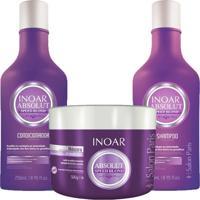 Kit Inoar Speed Blond Shampoo + Condicionador 250 Ml + Mascara 500Ml.