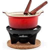 Conjunto Para Fondue De Chocolate Le Creuset Vermelho