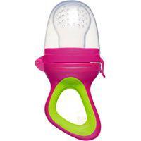 Alimentador Porta-Frutinha Para Bebê Rosa (6M+) - Buba