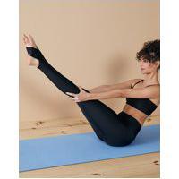 Amaro Feminino Legging Yoga Cós Dobrável Shine, Preto