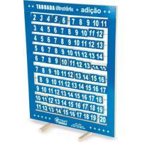 Tabuada Giratória De Adição Azul Em Mdf - Carlu