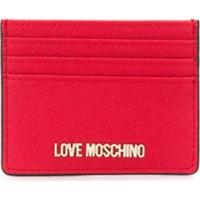 Love Moschino Logo Cardholder Wallet - Vermelho