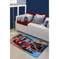 Tapete Mattel Desafio Hot Wheels 070X110 Jolitex Azul
