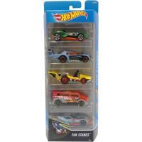 Carrinhos Hot Wheels - Pacote Com 5 Carros - Fan Stands - Mattel - Masculino
