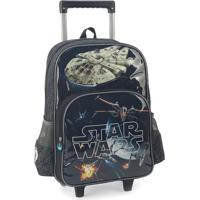 Mochilete Escolar Star Wars 41X30X14 Cm Cinza Luxcel