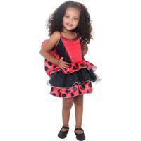 Fantasia Infantil Sulamericana - Joaninha Luxo Bebê - 10685 - Vermelho